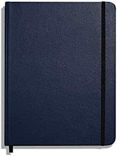 product image for Shinola Journal, HardLinen, Grid, Navy (7x9)