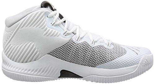 Adidas Herren Crazy Hustle Basketballschuhe, Elfenbein (Ftwbla/Plamet/Grpulg), 42 EU