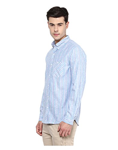Yepme - Camicia Henry Lino A Righe - Blu