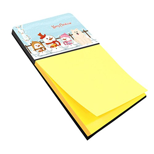 Samoyed Note (Caroline's Treasures Merry Christmas Carolers Samoyed Sticky Note Holder, Multicolor (BB2361SN))