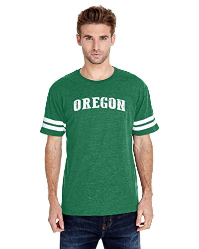Oregon State Flag Traveler Gift Adult Unisex Football Fine Jersey Tee (SIG) Irish -