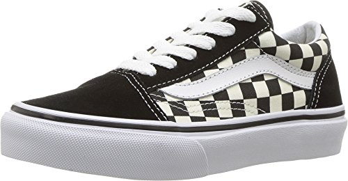 Vans - Unisex-Child Old Skool Shoes, Size: 10.5 M US Little Kid, Color: (Primary Check) Black/White (Best Shoes For Children's Feet)