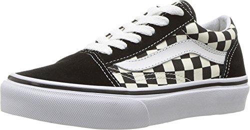 Vans Kids K Old Skool Primary Check Black White Size 2.5