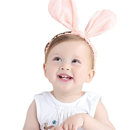 RQJ Baby Girls Rabbit Ear Headband Cute Bunny Elastic for sale  Delivered anywhere in USA