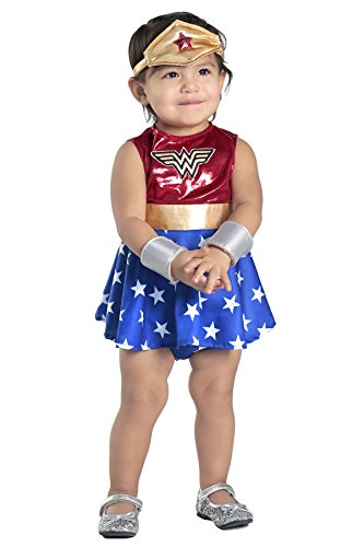 Princess Paradise Baby Girls' Wonder Woman Costume Dress and Diaper Cover Set, As Shown, 6 to 12 Months]()