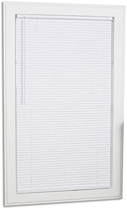 Project Source 1-in Cordless White Vinyl Mini-Blinds Common 23-in Actual 22.5-in x 42-in