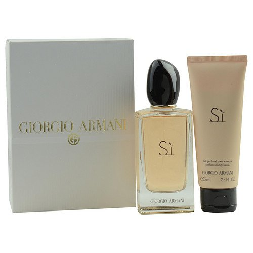 ARMANI SI by Giorgio Armani EAU DE PARFUM SPRAY 3.4 OZ & BODY LOTION 2.5 OZ (TRAVEL OFFER) for WOMEN ---(Package Of 3) by ARMANI SI
