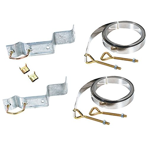 (TV Chimney Mount Kit Includes 8 Eye Bolts Nuts 8 Lock Washers 2 10' FT Galvanized Steel Straps Brackets Support Complete Outdoor Off-Air Local Signal Mounting Hardware)