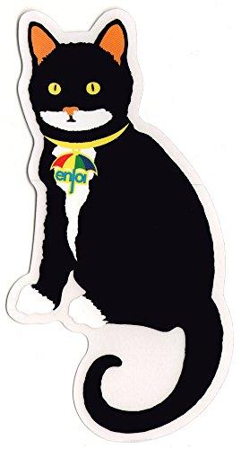 Enjoi Black Cat Skateboard Sticker - 14cm high approx. skate snow surf board bmx skateboarding