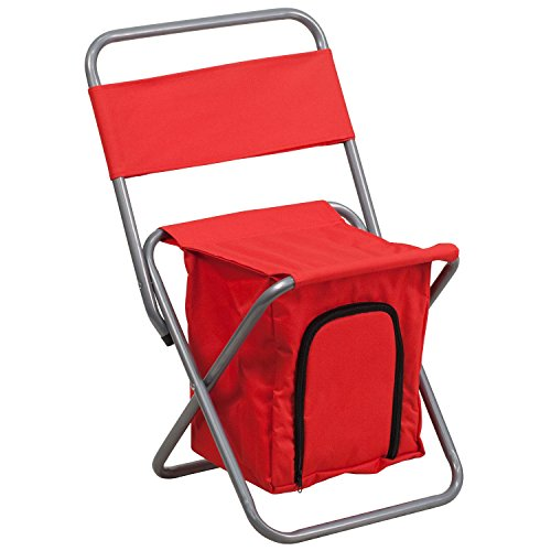 Flash Furniture Folding Camping Chair with Insulated Storage in Red by Flash Furniture