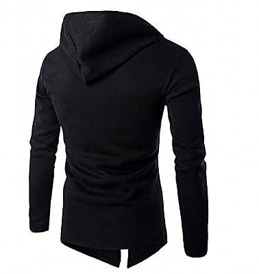 Kaured Trendy Men's Tops with Hood Zip Cotton Bomber Jacket Stylish