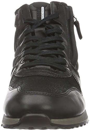 Black Baskets Black50118 Sneak black Ladies Femme Noir Ecco Weiß 42 Basses EU Black Black Uwv4xCxq