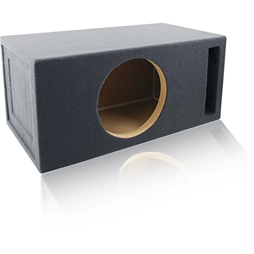 2.0 Cu. Ft. Ported/Vented MDF Sub Woofer Enclosure for Single 12″ Car Subwoofer (2.0 ft^3 @ 32Hz) Made in U.S.A.