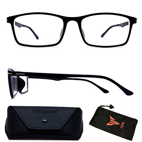 (#NS-201 Blk) Myopia Short sighted Super Lightweight Comfortable Square Rectangular Shape Driving Glasses - Super Lightweight Eyeglasses