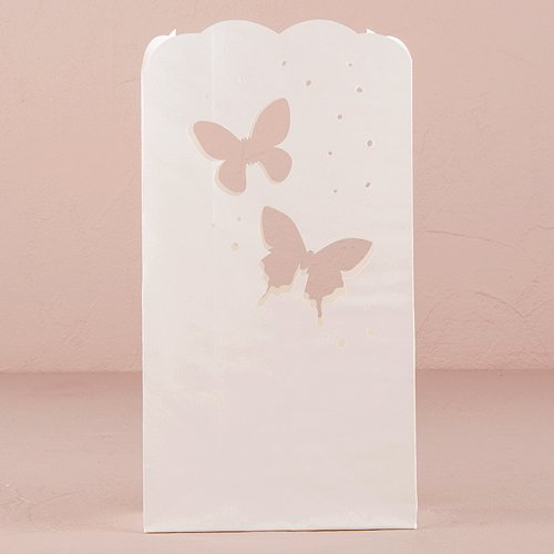 Wedding Luminary Bags With Die Cut Butterfly Pattern