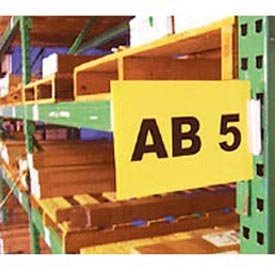 "AIGNER WSK-1Y Warehouse Aisle Pallet Rack Sign Kit, 5-1/2"" x 8-1/2"", Yellow"