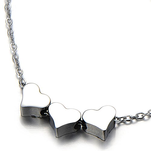 Triple Pendant Necklace Daughter Stainless