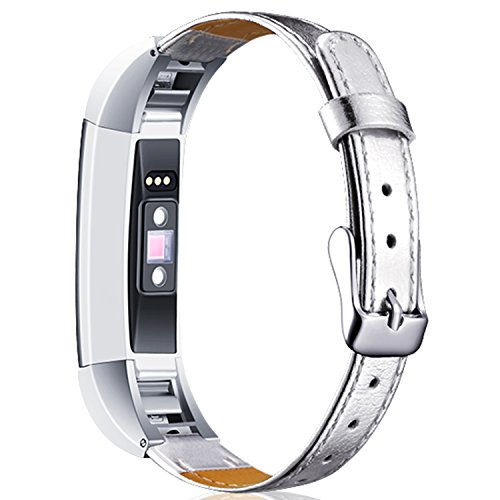 Braylin for Fitbit Alta and Alta HR Replacement bands, Classic Genuine Leather Wristbands with Metal Connectors?Fitbit Alta /Alta - Model Alcohol Frames