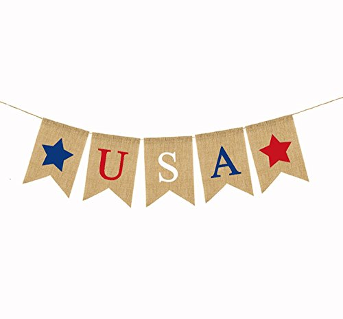 OZXCHIXU TM 4th of July Banner USA Letter America Independen