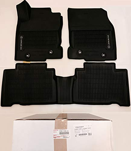 LEXUS OEM Factory All Weather Floor Liner Set 2015 2016 2017 2018 2019 NX200T NX300H NX300 Black