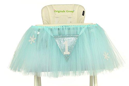 Originals Group 1st Birthday Originals Group 1st Birthday Frozen Tutu for High Chair Decoration for Party SuppliesTutu for High Chair Decoration for Party Supplies (Frozen)