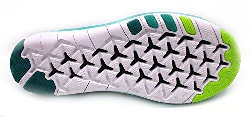 Nike Frauen Free Transform Flyknit Trainingsschuhe Klare Jade / Weiß-total Rot-Spannung Grün