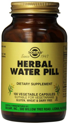 Solgar Herbal Water Pill Vegetable Capsules, 100 Count