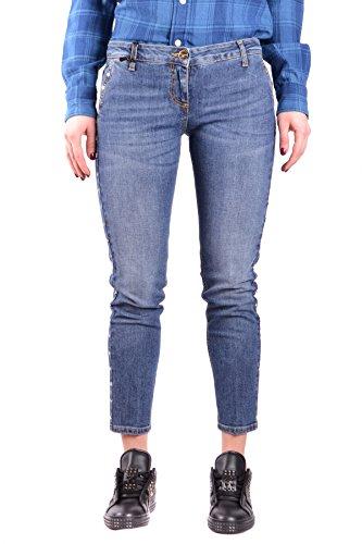 Elisabetta Franchi Femme MCBI113283O Bleu Coton Jeans