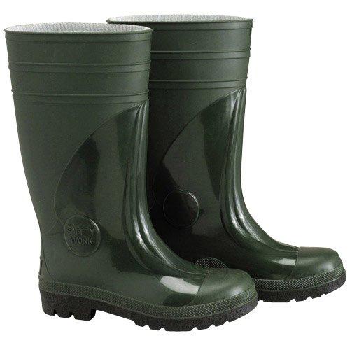 Wolfpack 15010166-Stivali di gomma elevate, di sicurezza, numero 47, colore: verde