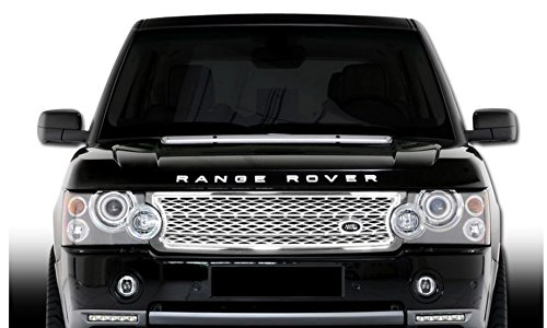 R&L Racing 06-09 Land Range Rover Euro Chrome/Silver Mesh Style Front Hood Grill Grille Abs