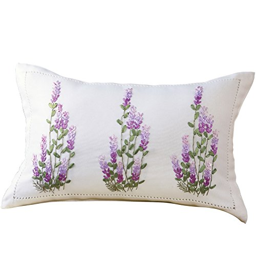 Lavender Ribbon Decorative Accent Pillow