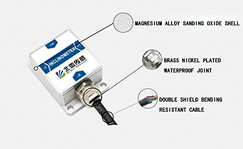 2D Dynamic Inclinometer Tilt Angle Sensor BW-VG127 with Dynamic Accuracy 2 Degree/Static Accuracy 0.2 Degree and RS232,RS485,TTL,Modbus Output by Bewis (Image #9)