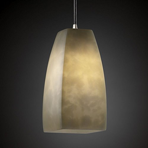 Justice Design Group CLD-8816-15-CROM Clouds Collection Small 1-Light Pendant Light Fixture
