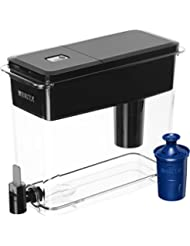 Brita Extra Large 18 Cup UltraMax Water Dispenser with 1 Longlast Filter - BPA Free -Jet Black