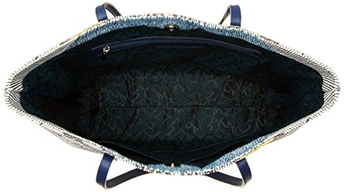 Gattinoni Gacpu0000106, Borsa a Spalla Donna, 10x35x40 cm (W x H x L) Blu (Luna)