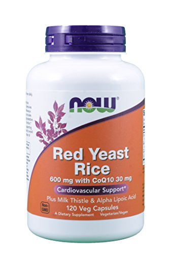 NOW RED YEAST RICE with MILK THISTLE, ALPHA LIPOIC ACID and CoQ10 – 120 Vegetarian Capsules For Sale