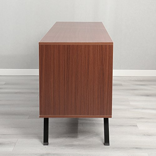 Dland TV Stand 59'', Composite Wood Board, 2-Shelf & 2-Cube & 2-Door Entertainment Center Console Storage Cabinet for Living Room Bedroom, WK-GZ003-RM Red-Maple, 1 Pack by Dland (Image #6)