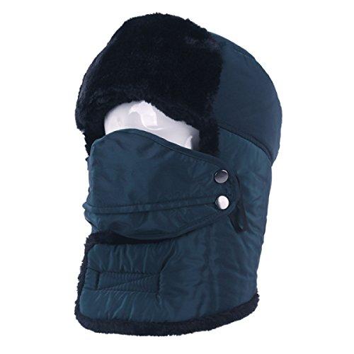 A Khaki Esquí Bombardero Esquí Soldado Trampero Para Sombrero Senderismo Patinaje De Hombre Máscara Prueba De O Gorro Sombreros De Caliente Caza De De Unisex Viento YSSR7qF