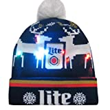Putars Christmas Hat,Colorful Merry Christmas LED Light-up Hat Knitted Ugly Sweater Holiday Cap