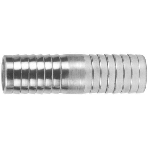 Dixon DM6 Zinc Plated Steel Shank/Water Fitting, Mender, 3/4'' Hose ID Barbed, Box of 50