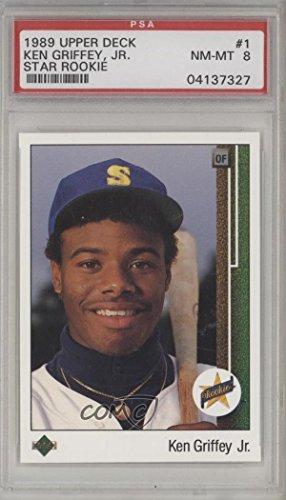 Ken Griffey Jr. PSA GRADED 8 (Baseball Card) 1989 Upper Deck - [Base] #1 (1989 Upper Deck Ken Griffey Jr Rookie Card)