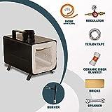 Portable Propane Gas Forge Single Burner Knife and