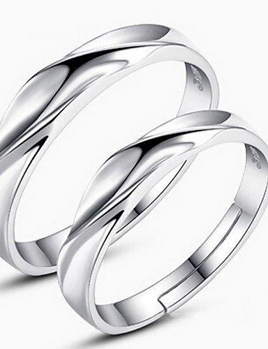 SHHL par de anillos de boda (plata sterling) %2F Fiesta %2F diaria