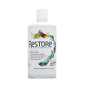 RESTORE For Gut Health | Restore 4 Life Trace Mineral & Lignite Liquid For Improved Wellness and Digestion Balance | (32 ounce)