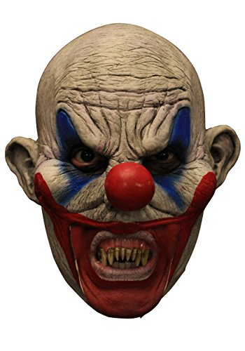 Clooney Clown with Scary Teeth Chinless (Scary Clown Teeth)