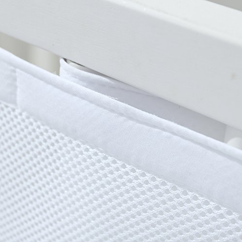 Bbtkcare Breathable Mesh Crib Bumper,white