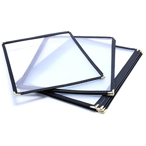 (10 Pack) Yaekoo Triple Fold Menu Cover for 8.5
