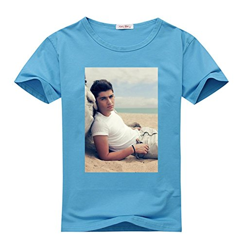 DIYtshirt Zayn Malik T-Shirt, Custom Men's Classic 100% Cotton T-Shirt with Zayn Malik (Medium)
