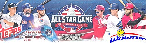 2018 Topps Baseball 707 Card ALL STAR GAME Complete Factory Set with (5) EXCLUSIVE All-Star Cards of Shohei Ohtani, Aaron Judge, Mike Trout & More! Every Card has All-Star Game - Complete Sets Baseball Card