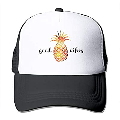 Waldeal Adult The Pineapple Good Vibes Adjustable Mesh Hat Trucker Baseball Caps